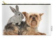 Yorkshire Terrier And Young Silver Carry-all Pouch