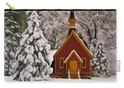 Yosemite Chapel - Christmas Card Carry-all Pouch