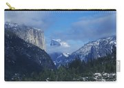 Yosemite View In Snow Carry-all Pouch