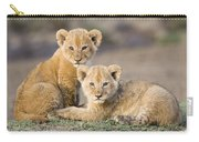 Young African Lion Cubs  Carry-all Pouch