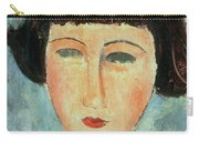Young Brunette Carry-all Pouch by Modigliani