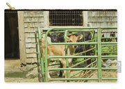 Young Calf In Fence Pen Near Barn Summer Maine Carry-all Pouch