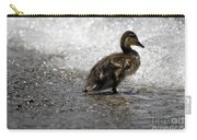 Young Duck On The Beach Carry-all Pouch