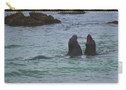 Young Elephant Seals Sparring Carry-all Pouch