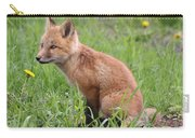 Young Fox Among The Dandelions Carry-all Pouch