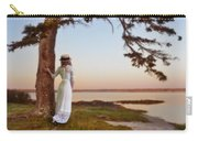 Young Lady In Edwardian Clothing By The Sea Carry-all Pouch