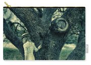 Young Lady In White By Tree Carry-all Pouch