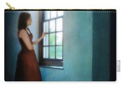 Young Lady Looking Out Window Carry-all Pouch