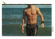 Young Man Walking Out Of The Water Carry-all Pouch