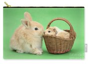 Young Rabbit With Baby Guinea Pig Carry-all Pouch