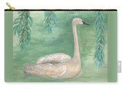 Young Swan Under Willow Tree Carry-all Pouch