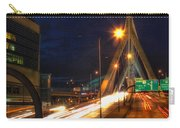 Zakim Bridge At Night Carry-all Pouch by Joann Vitali