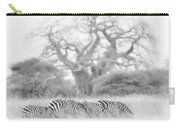 Zebra And Tree Carry-all Pouch