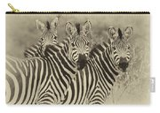 Zebra Trio Carry-all Pouch