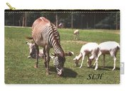 Zebra's Grazing Carry-all Pouch