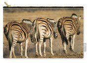 Zebras Three Carry-all Pouch