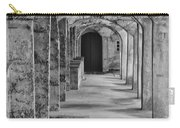 Archway At Moravian Pottery And Tile Works In Black And White Carry-all Pouch