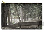 Bench By The Stream Carry-all Pouch