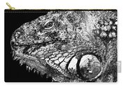 Black And White Iguana Art - One Cool Dude 2 - Sharon Cummings Carry-all Pouch
