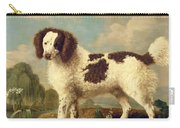 Brown And White Norfolk Or Water Spaniel Carry-all Pouch by George Stubbs