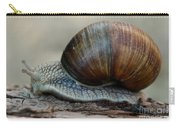 Burgundy Snail Carry-all Pouch