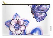 Butterfly Amongst The Flowers Carry-all Pouch