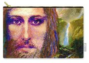Contemporary Jesus Painting, Chalice Of Life Carry-all Pouch