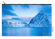 Cool Blue Dawn Over Mount Olstind Carry-all Pouch