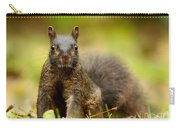 Curious Black Squirrel Carry-all Pouch by Mircea Costina Photography