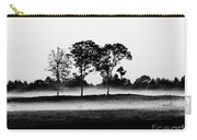Evening Mist Black And White Carry-all Pouch