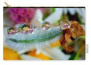 Friendly Company Of Rain Droplets On A Flower Cereal Carry-all Pouch