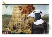 Galgo Espanol - Spanish Greyhound Art Canvas Print -the Tower Of Babel  Carry-all Pouch
