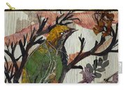 Green-yellow Bird Carry-all Pouch