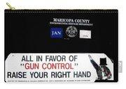 Gun Control Decal Black Canyon City Arizona 2004 Carry-all Pouch