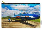 Hawker Hunter T7 Aircraft On Wood Carry-all Pouch
