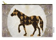 Horse Prancing Abstract Graphic Filled Cartoon Humor Faces Download Option For Personal Commercial  Carry-all Pouch