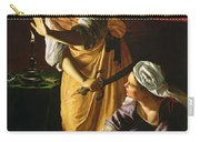 Judith And Maidservant With The Head Of Holofernes Carry-all Pouch by Artemisia Gentileschi