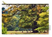 Landscape Under A Big Oak In Autumn Carry-all Pouch