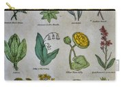 Lithography Of Common Flowers Carry-all Pouch