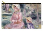 Madame Renoir And Her Son Pierre Carry-all Pouch by Pierre Auguste Renoir