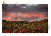 New England Fall Foliage Over The Small White Church Carry-all Pouch