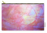 5. Orange, Red, And Yellow 'sun' Glaze Painting Carry-all Pouch