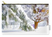 Pine Branch Tree Under Snow Carry-all Pouch