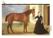 Portrait Of A Lady With Her Horse Carry-all Pouch by English School