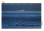 Southern Resident Orcas And Salmon Off The San Juan Islands Playing With Salmon Carry-all Pouch