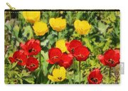 Spring Landscape With Tulips Carry-all Pouch