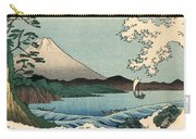 Suruga Satta No Kaijo - Sea At Satta In Suruga Province Carry-all Pouch