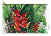 Tiger Claw .. Heliconia Carry-all Pouch