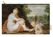 Venus And Cupid Warming Themselves  Carry-all Pouch