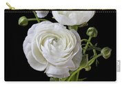 White Ranunculus In Yellow Vase Carry-all Pouch